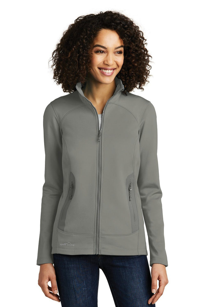 White Eddie Bauer Women's Highpoint Full Zip Fleece Jacket
