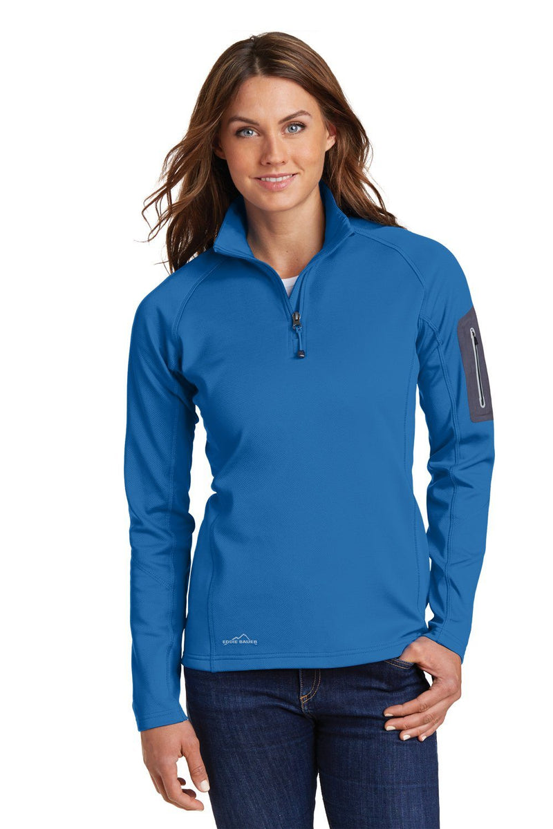Dark Slate Blue Eddie Bauer Women's Performance Fleece 1/4 Zip Sweatshirt