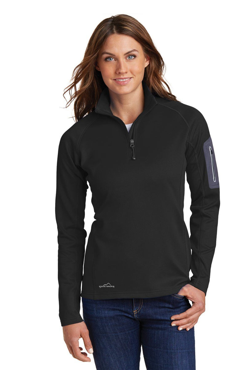 White Eddie Bauer Women's Performance Fleece 1/4 Zip Sweatshirt