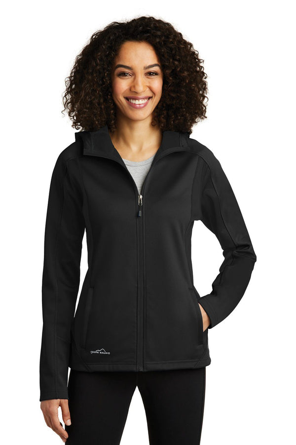 White Eddie Bauer Women's Trail Water Resistant Full Zip Hooded Jacket