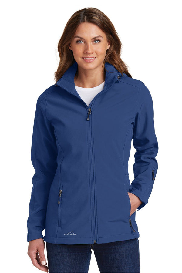 Dark Slate Blue Eddie Bauer Women's Water Resistant Full Zip Hooded Jacket