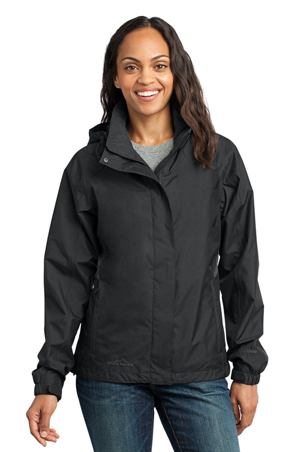 White Eddie Bauer Women's Waterproof Full Zip Hooded Jacket