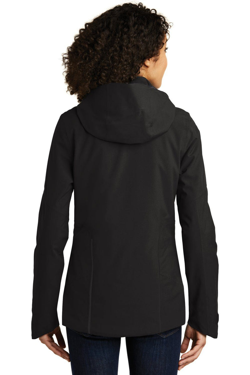 Black Eddie Bauer Women's WeatherEdge Plus Waterproof Full Zip Hooded Jacket