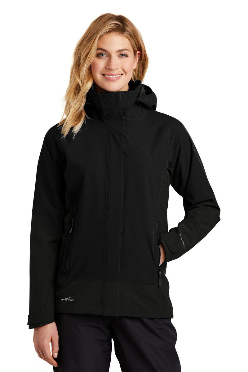 Eddie Bauer Womens WeatherEdge Waterproof Full Zip Hooded Jacket Womens Casual Jackets Eddie Bauer XS Black