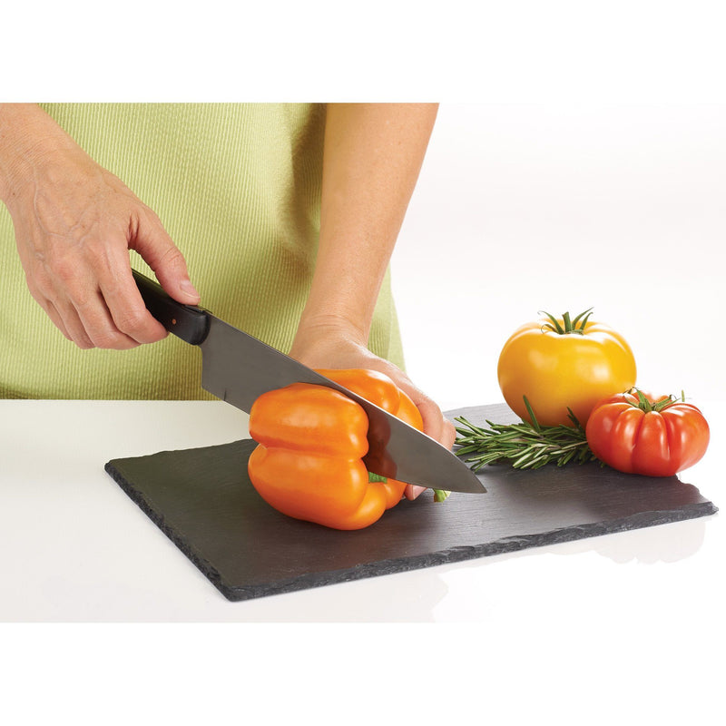 White Smoke Laguiole® Black Kitchen Knife & Cutting Board Set