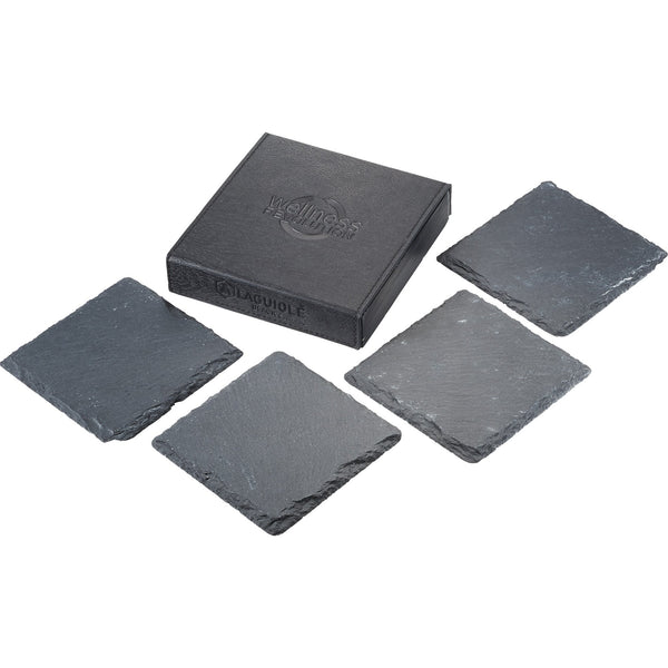 Laguiole® Black Slate Custom Coaster Set Sets Laguiole