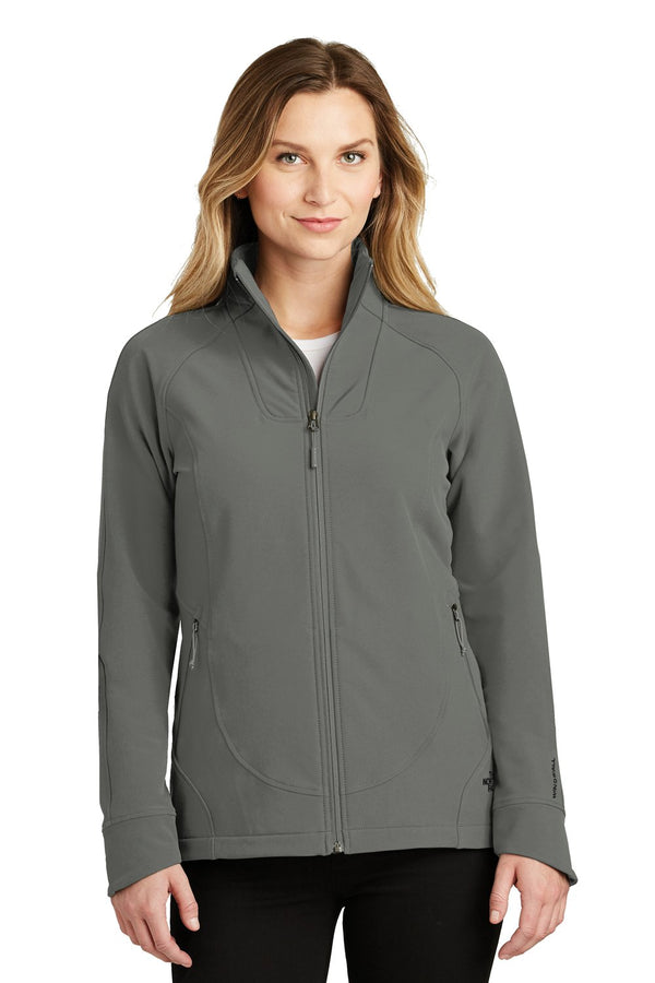 White The North Face Women's Tech Wind & Water Resistant Full Zip Jacket