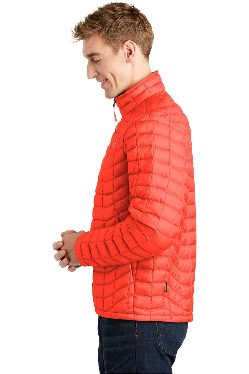 Orange Red The North Face Men's ThermoBall Trekker Water Resistant Full Zip Jacket