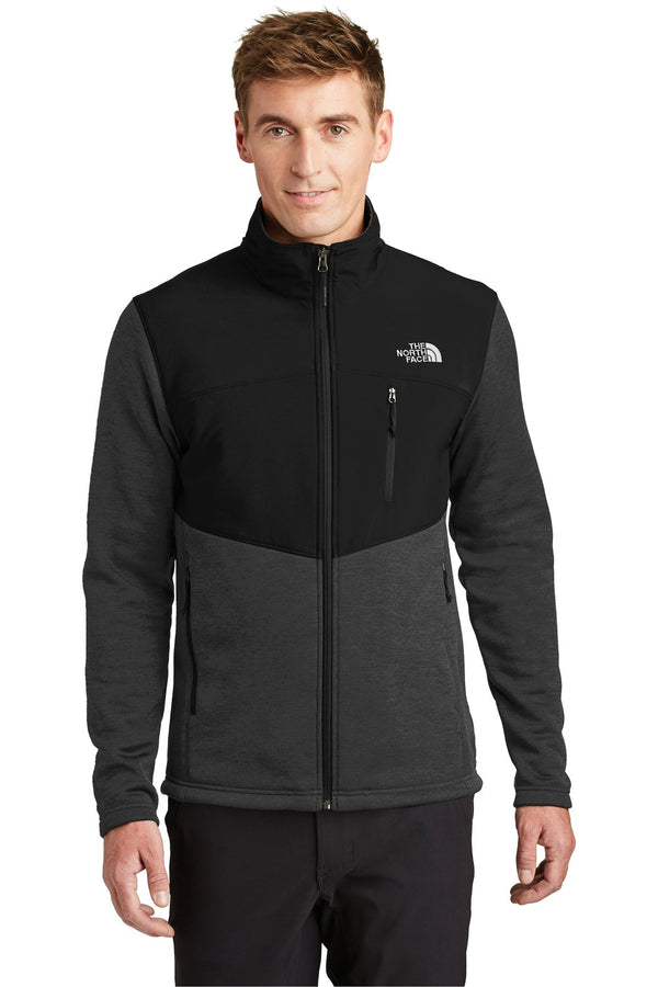 White The North Face Men's Far North Wind Resistant Full Zip Fleece Jacket