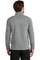Light Slate Gray The North Face Men's Full Zip Sweater Fleece Jacket