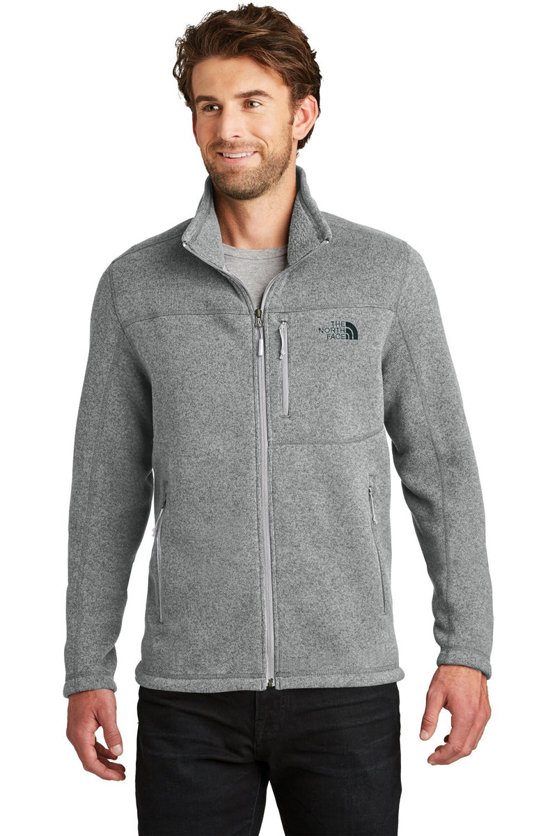 White The North Face Men's Full Zip Sweater Fleece Jacket