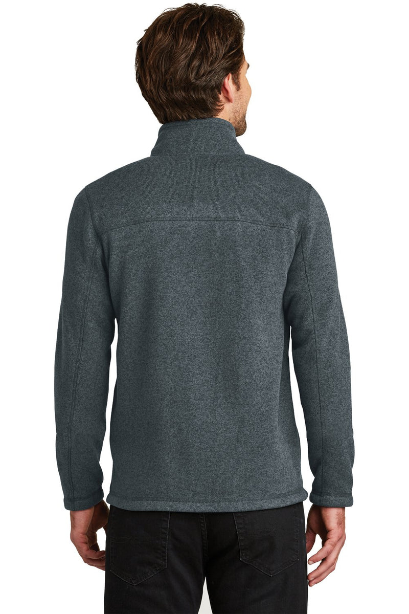 Dark Slate Gray The North Face Men's Full Zip Sweater Fleece Jacket