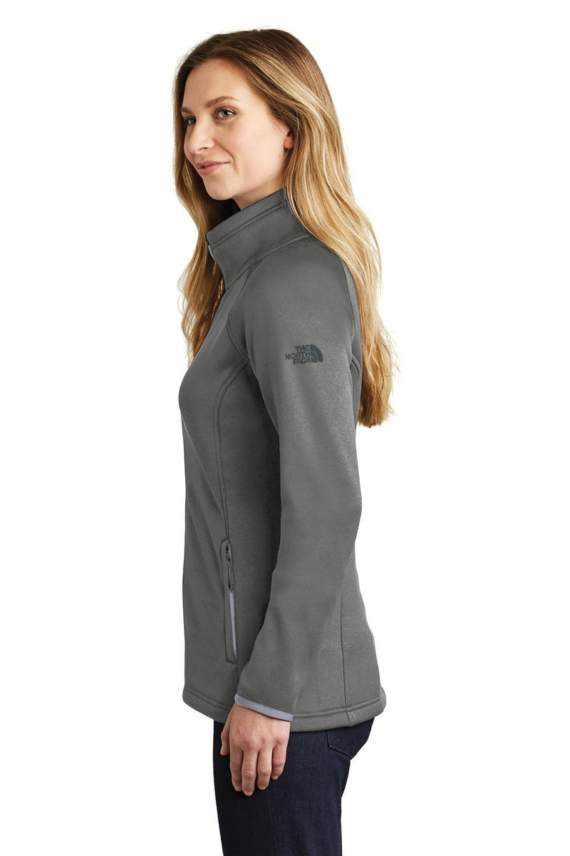 White The North Face Women's Canyon Flats Full Zip Fleece Jacket