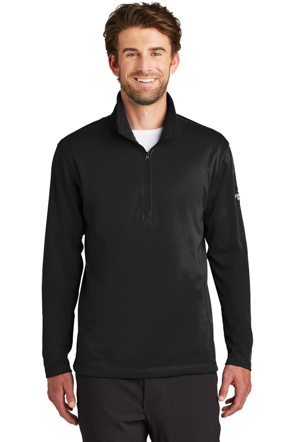 White The North Face Men's Tech 1/4 Zip Fleece Jacket