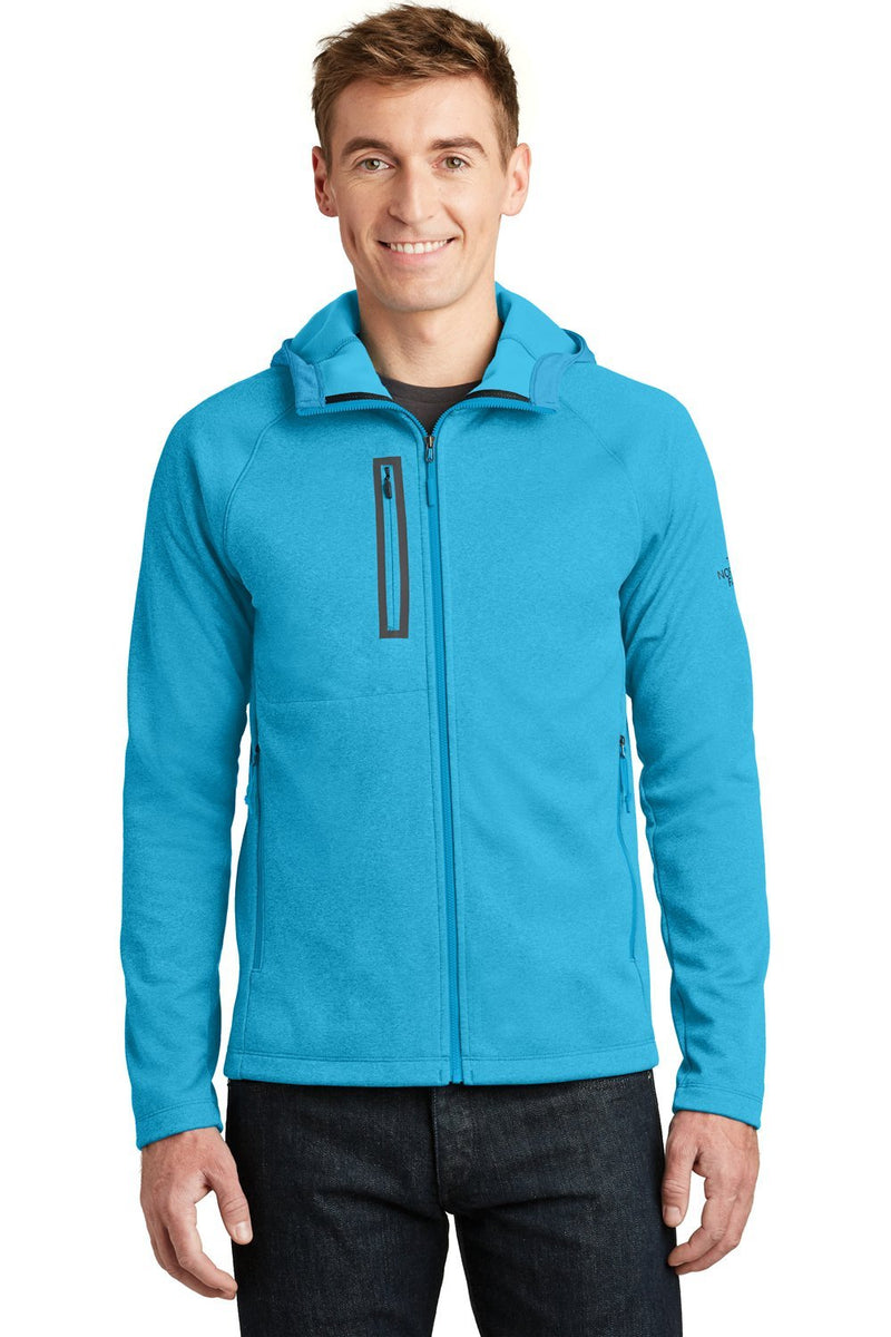 Light Sea Green The North Face Men's Canyon Flats Full Zip Fleece Hooded Jacket