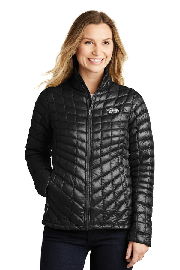 White The North Face Women's ThermoBall Trekker Water Resistant Full Zip Jacket