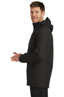White The North Face Men's Ascendent Waterproof Full Zip Hooded Jacket