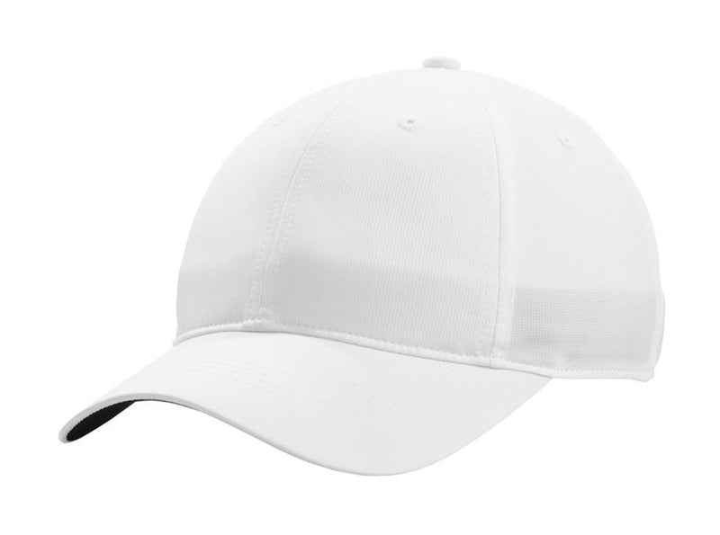 Nike Mens Dri-Fit Moisture Wicking Adjustable Hat Hats Nike One Size Fits All White/Black
