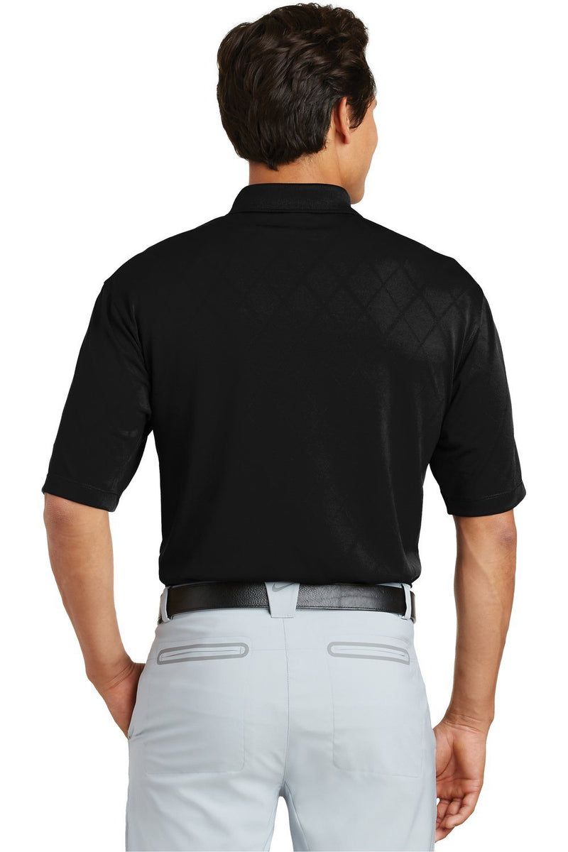 Black Nike Men's Dri-Fit Moisture Wicking Short Sleeve Polo Shirt