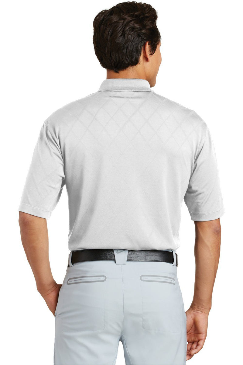 Light Gray Nike Men's Dri-Fit Moisture Wicking Short Sleeve Polo Shirt