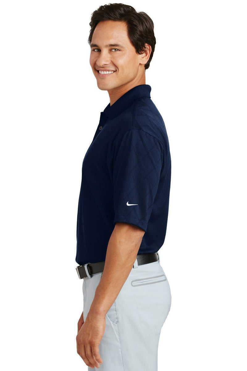 White Nike Men's Dri-Fit Moisture Wicking Short Sleeve Polo Shirt