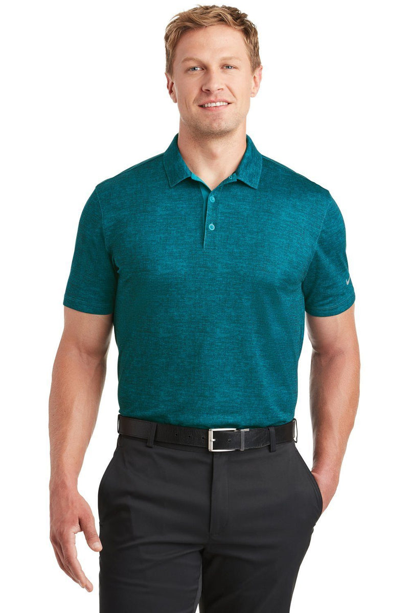 Dark Cyan Nike Men's Dri-Fit Moisture Wicking Short Sleeve Polo Shirt