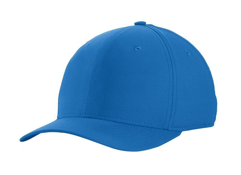Nike Mens Dri-Fit Moisture Wicking Stretch Fit Hat Hats Nike S/M Gym Blue/White