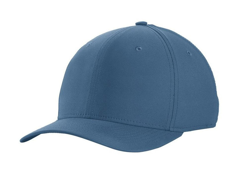Nike Mens Dri-Fit Moisture Wicking Stretch Fit Hat Hats Nike S/M Navy Blue/White