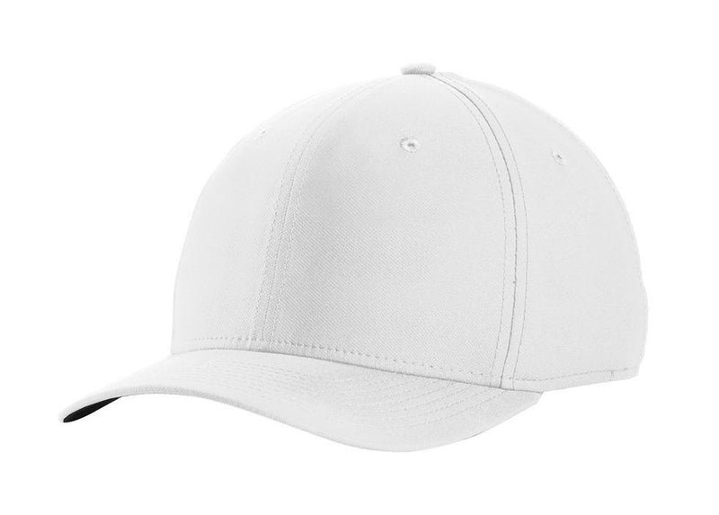 Nike Mens Dri-Fit Moisture Wicking Stretch Fit Hat Hats Nike S/M White/Black