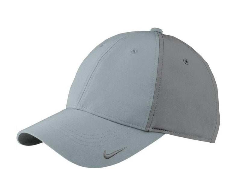 Nike Mens Moisture Wicking Adjustable Hat Hats Nike One Size Fits All Cool Grey/Dark Grey