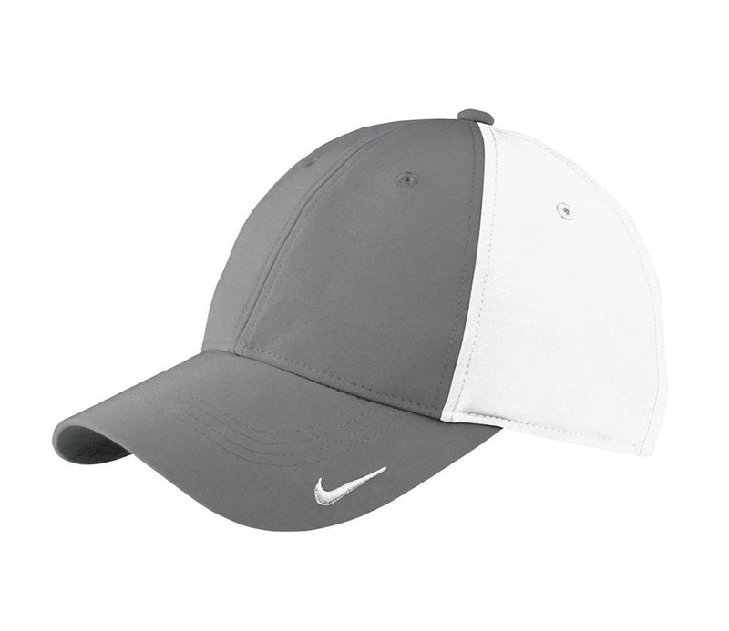 Nike Mens Moisture Wicking Adjustable Hat Hats Nike One Size Fits All Dark Grey/White