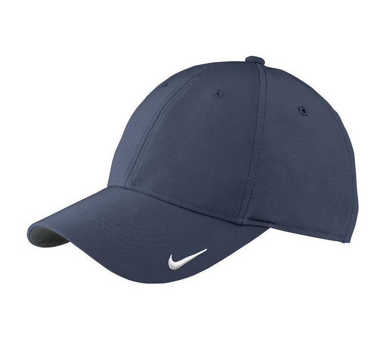 Nike Mens Moisture Wicking Adjustable Hat Hats Nike One Size Fits All Navy Blue