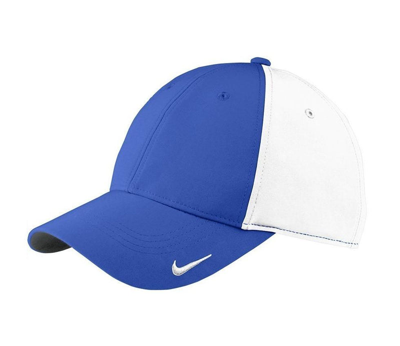 Nike Mens Moisture Wicking Adjustable Hat Hats Nike One Size Fits All Royal Blue/White
