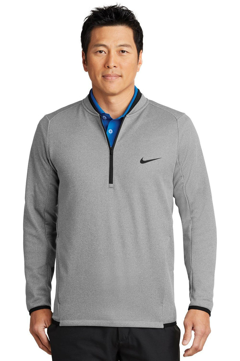 White Nike Men's Therma-Fit Moisture Wicking Fleece 1/4 Zip Sweatshirt
