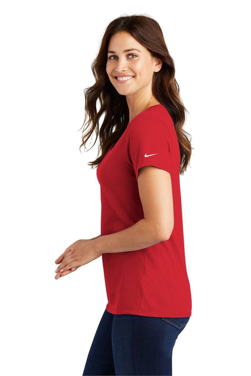 White Nike Women's Core Short Sleeve Scoop Neck T-Shirt