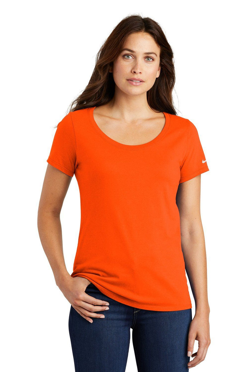 Nike Womens Core Short Sleeve Scoop Neck T-Shirt Womens T-Shirts Nike S Orange