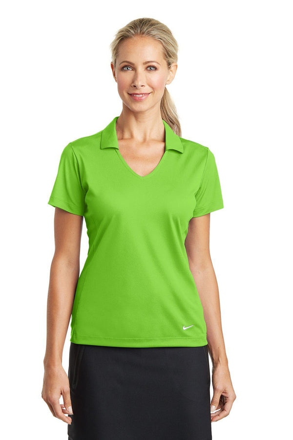Yellow Green Nike Women's Dri-Fit Moisture Wicking Short Sleeve Polo Shirt