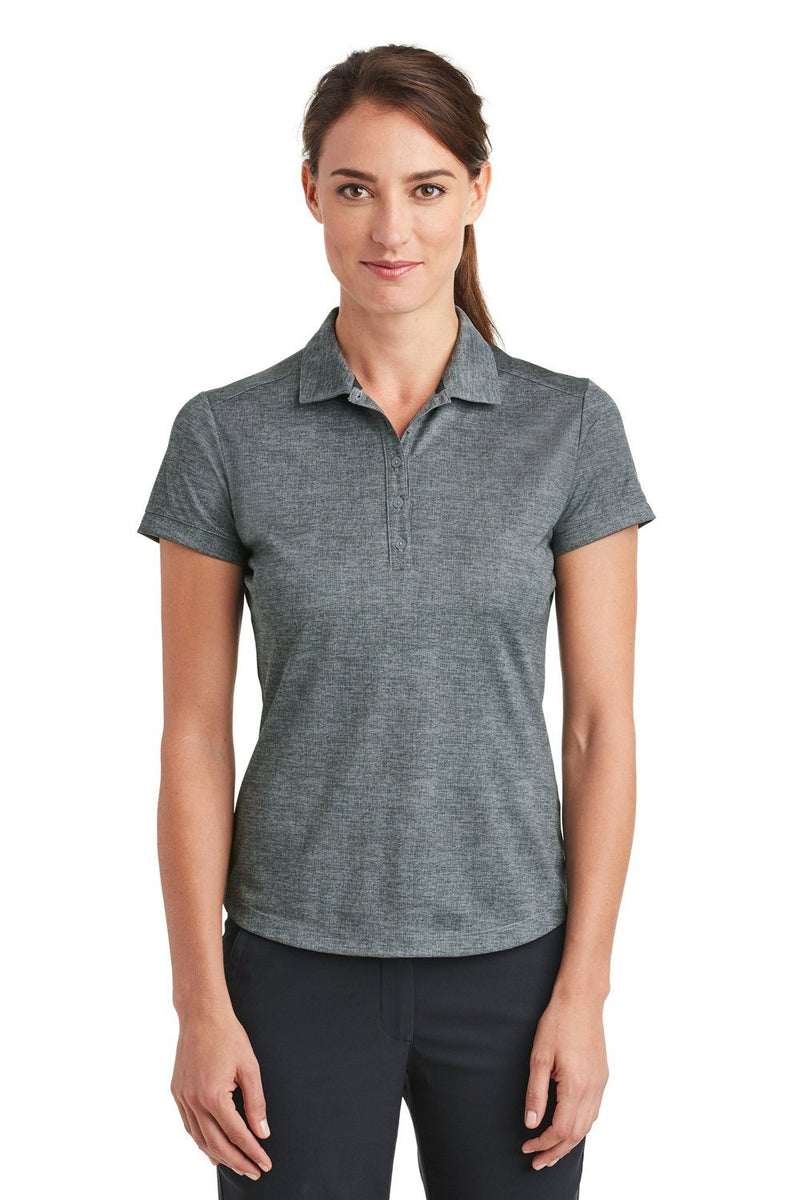 White Nike Women's Dri-Fit Moisture Wicking Short Sleeve Polo Shirt