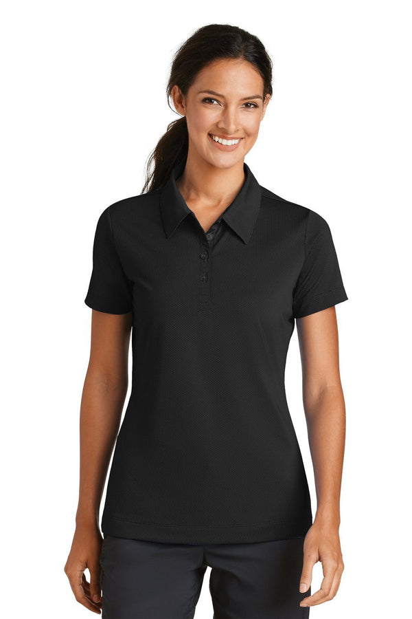 White Nike Women's Sphere Dry Moisture Wicking Short Sleeve Polo Shirt