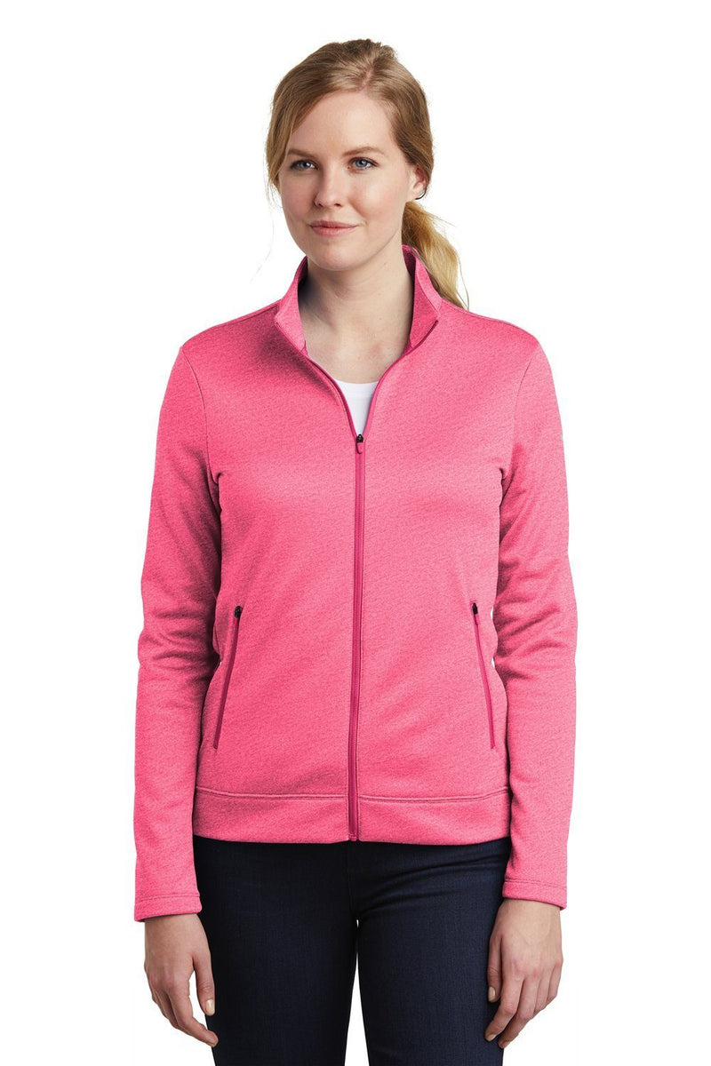 Nike Womens Therma-Fit Moisture Wicking Fleece Full Zip Sweatshirt Womens Sweatshirts Nike S Heather Pink