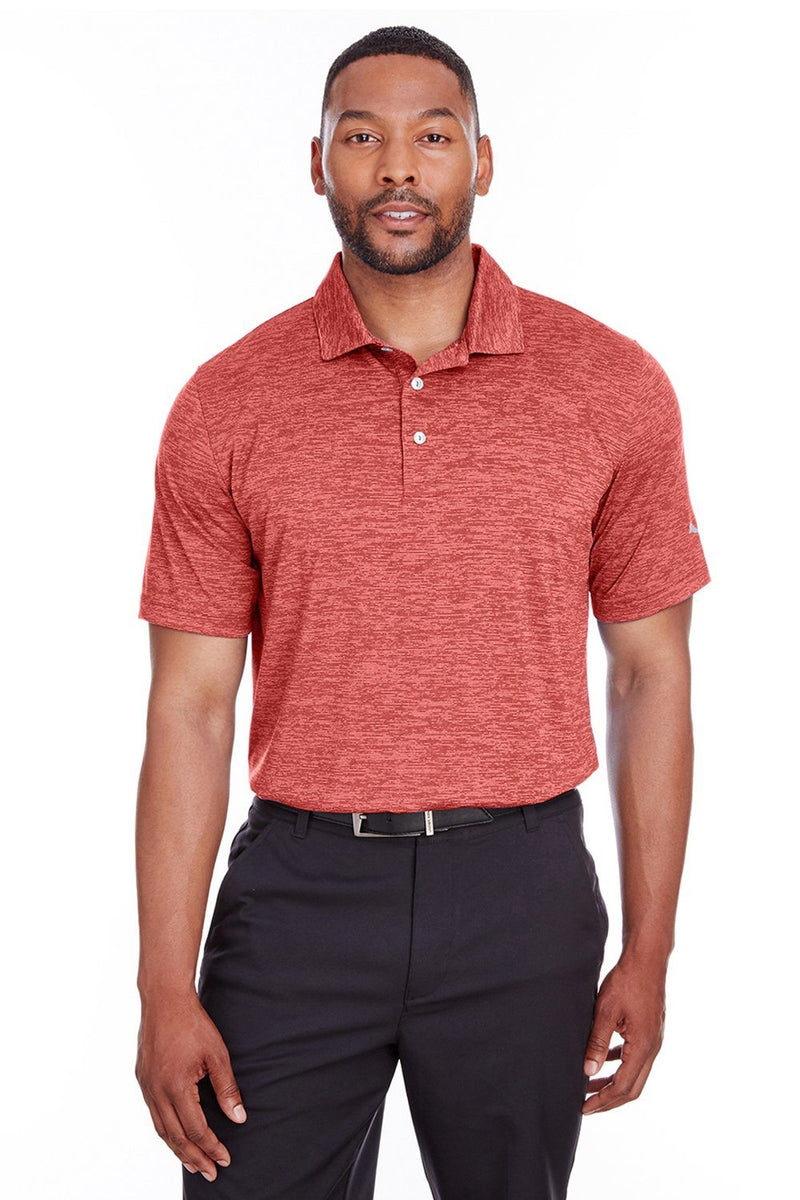Puma Mens Icon Performance Moisture Wicking Short Sleeve Polo Shirt Mens Polo Shirts Puma S Red