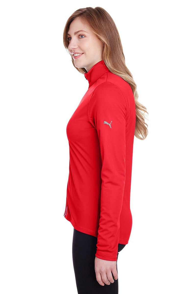 Tomato Puma Women's Icon Performance Moisture Wicking Full Zip Sweatshirt