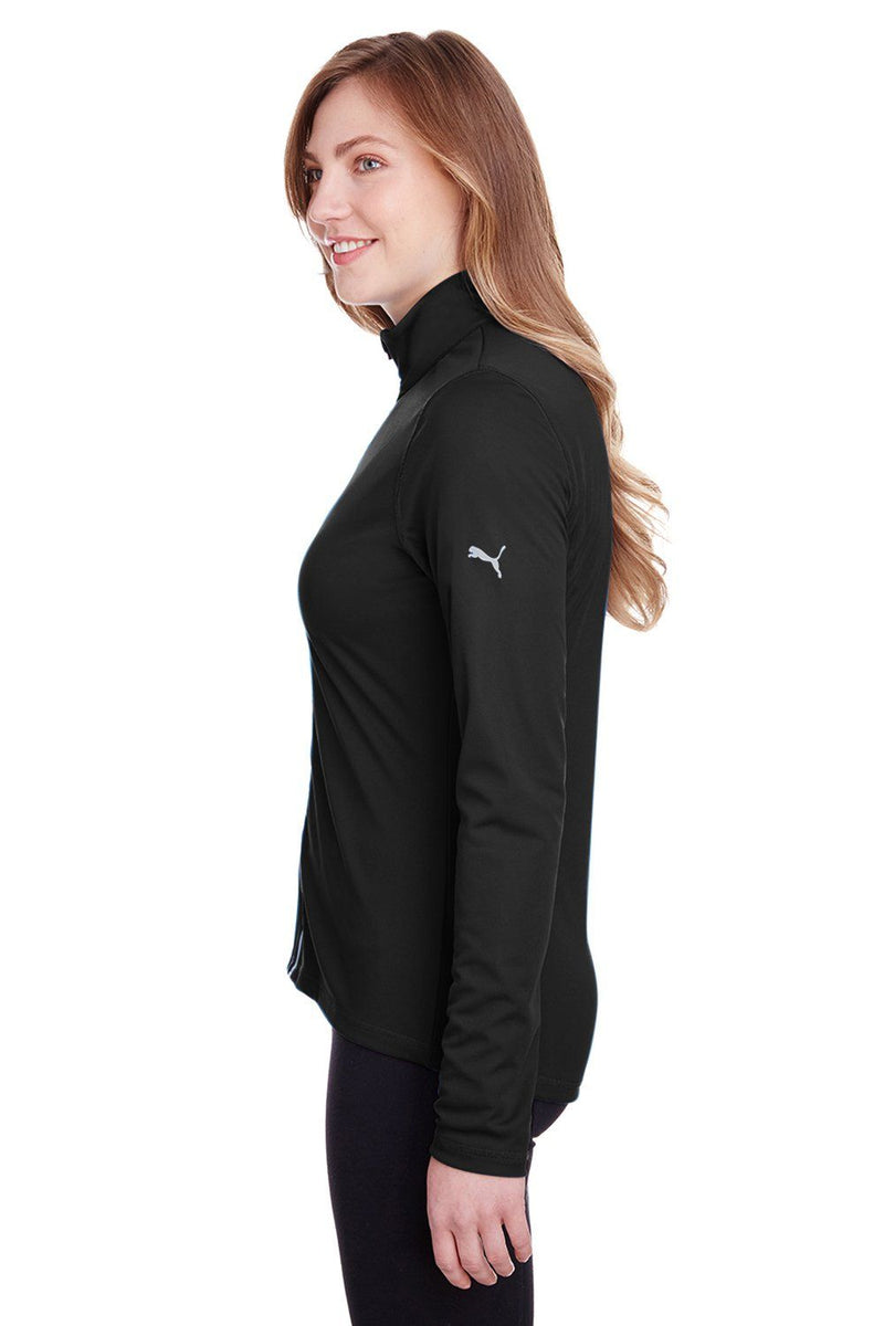 White Puma Women's Icon Performance Moisture Wicking Full Zip Sweatshirt