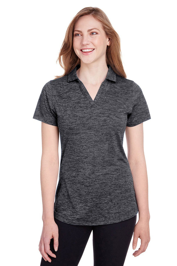 Puma Womens Icon Performance Moisture Wicking Short Sleeve Polo Shirt Womens Polo Shirts Puma XS Black