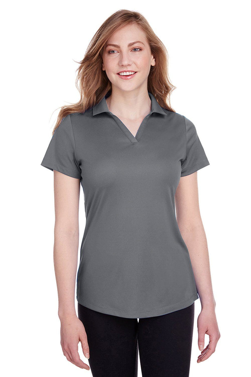 Puma Womens Icon Performance Moisture Wicking Short Sleeve Polo Shirt Womens Polo Shirts Puma XS Grey