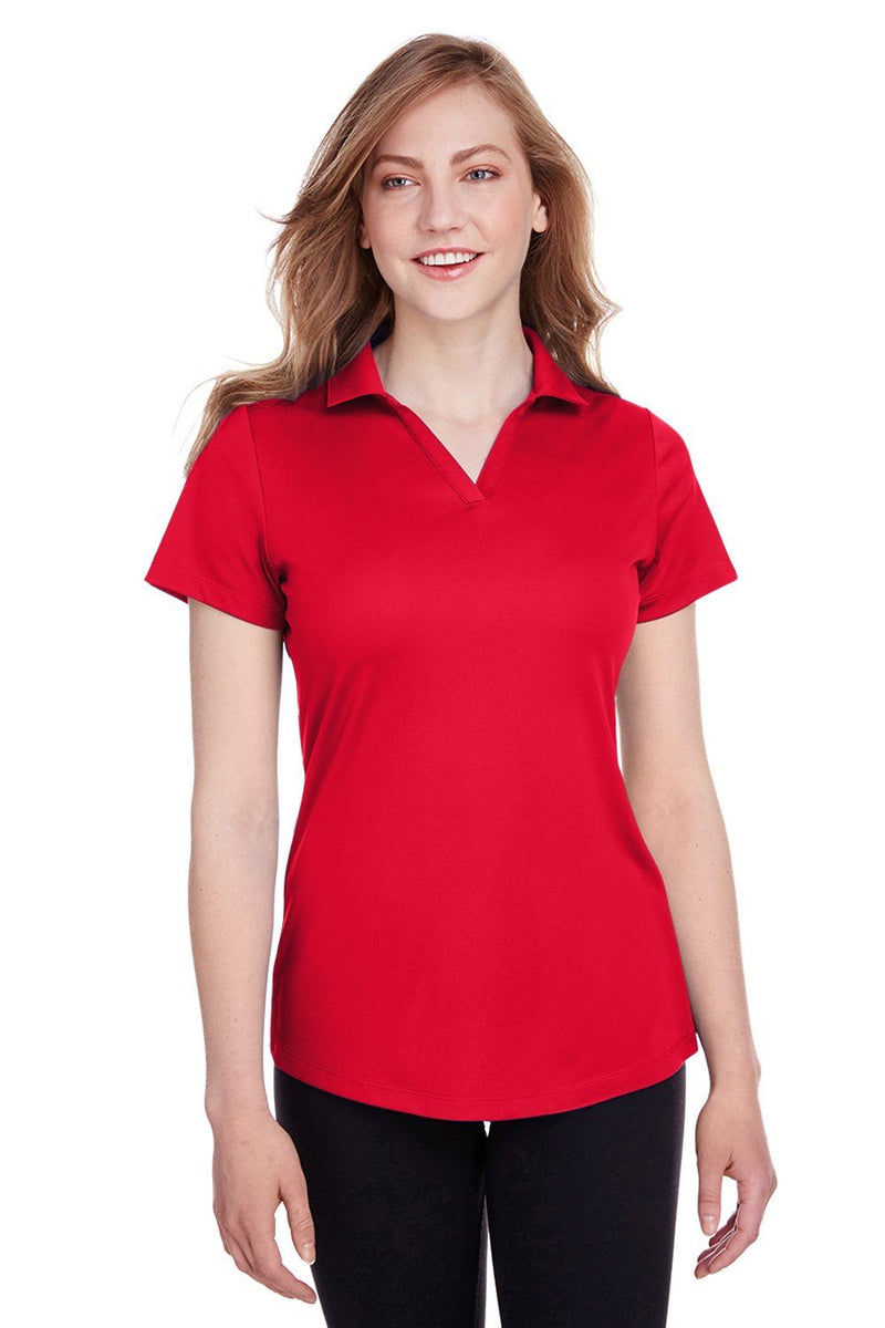 Puma Womens Icon Performance Moisture Wicking Short Sleeve Polo Shirt Womens Polo Shirts Puma XS Red