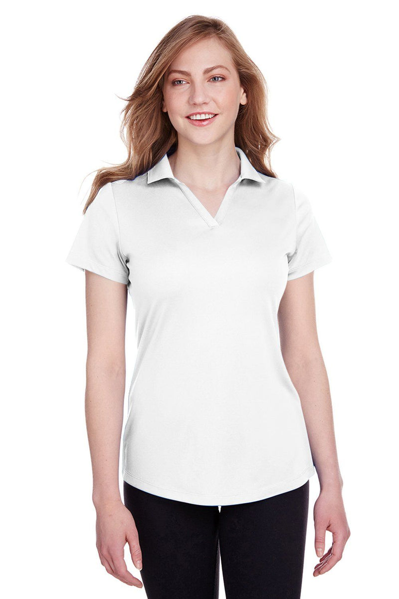 Puma Womens Icon Performance Moisture Wicking Short Sleeve Polo Shirt Womens Polo Shirts Puma XS White