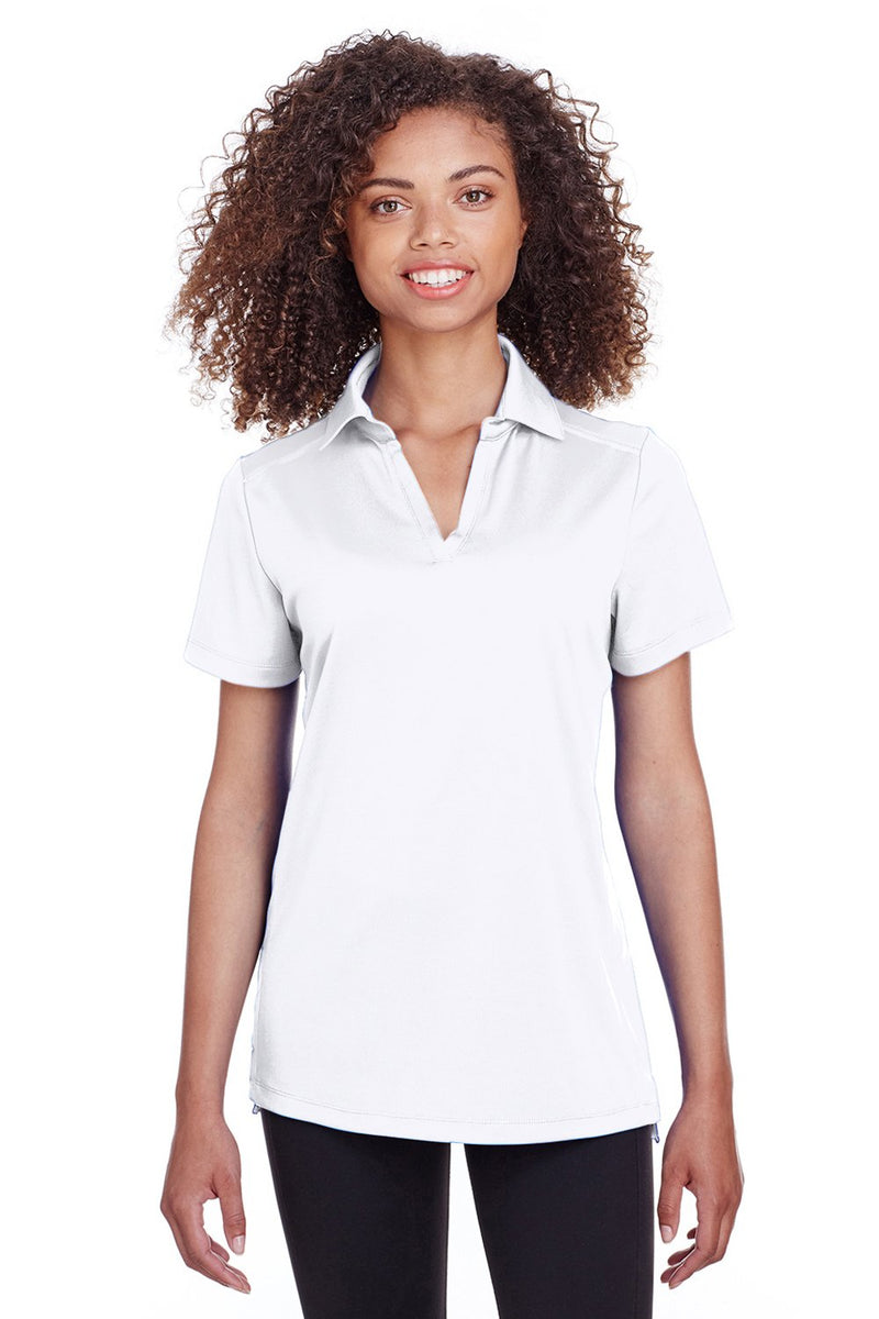 Ghost White Spyder Women's Freestyle Short Sleeve Polo Shirt