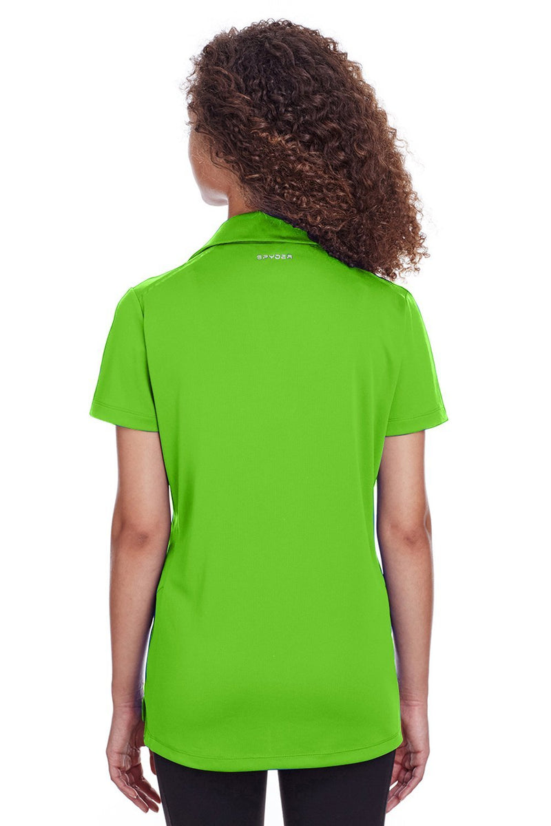 Yellow Green Spyder Women's Freestyle Short Sleeve Polo Shirt