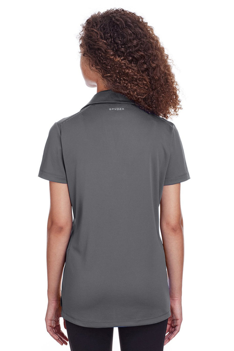 Dim Gray Spyder Women's Freestyle Short Sleeve Polo Shirt